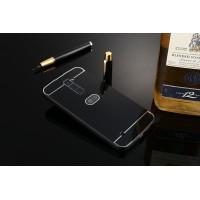 Двухкомпонентный чехол c металлическим бампером с поликарбонатной накладкой для LG K10  Черный