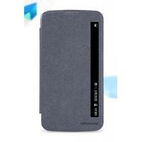 Чехол горизонтальная книжка на пластиковой нескользящей премиум основе с окном вызова для LG K10  Черный