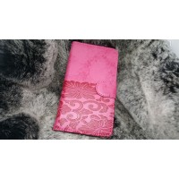 Чехол портмоне подставка текстура Узоры на силиконовой основе на магнитной защелке для LG K10  Розовый