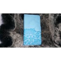 Чехол портмоне подставка текстура Узоры на силиконовой основе на магнитной защелке для LG K10  Голубой