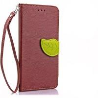 Чехол портмоне подставка на силиконовой основе на дизайнерской магнитной защелке для LG K10  Коричневый