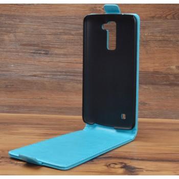 Чехол вертикальная книжка на пластиковой основе на магнитной защелке для LG K10