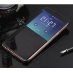 Пластиковый непрозрачный матовый металлик чехол с полупрозрачной крышкой с зеркальным покрытием для Samsung Galaxy J5 (2016)