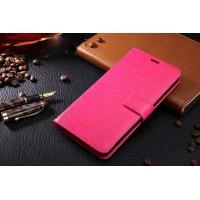 Глнцевый чехол портмоне подставка на пластиковой основе на магнитной защелке для Samsung Galaxy J5 (2016)  Пурпурный
