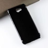 Силиконовый матовый полупрозрачный чехол с усиленными углами для Huawei Honor 5A/Y5 II Черный