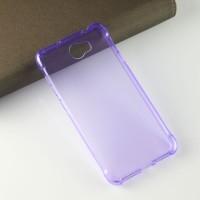Силиконовый матовый полупрозрачный чехол с усиленными углами для Huawei Honor 5A/Y5 II Фиолетовый