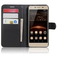 Чехол портмоне подставка на магнитной защелке для Huawei Honor 5A/Y5 II Черный