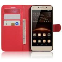 Чехол портмоне подставка на магнитной защелке для Huawei Honor 5A/Y5 II Красный