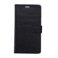 Кожаный чехол портмоне подставка на силиконовой основе на магнитной защелке для Huawei Honor 5A/Y5 II Черный