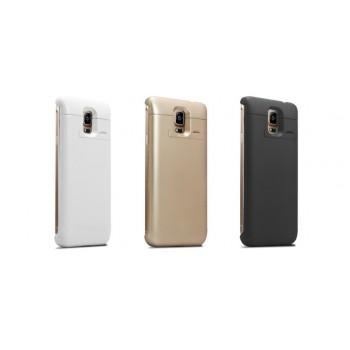 Пластиковый непрозрачный матовый чехол с встроенным аккумулятором 3000 мАч и подставкой для Samsung Galaxy Note 4