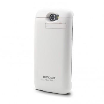 Пластиковый непрозрачный матовый чехол с встроенным аккумулятором 4800 мАч и подставкой для Samsung Galaxy Note 2
