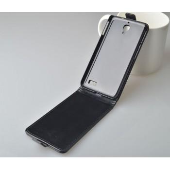 Чехол вертикальная книжка на пластиковой основе на магнитной защелке для Alcatel One Touch Idol