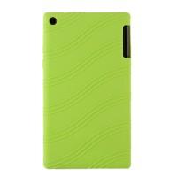 Силиконовый матовый непрозрачный чехол с дизайнерской текстурой Узоры для Lenovo Tab 2 A7-20  Зеленый