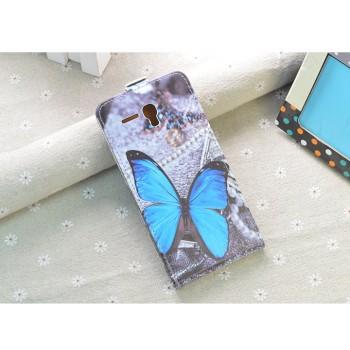 Чехол вертикальная книжка на пластиковой основе с полноповерхностным принтом на магнитной защелке для Alcatel One Touch POP 3 5.5