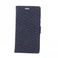 Чехол портмоне подставка на силиконовой основе с тканевым покрытием на магнитной защелке для Alcatel OneTouch Pop Up