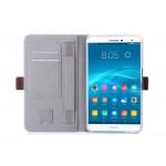 Чехол книжка подставка на полупрозрачной силиконовой основе с магнитной защелкой, отсеком для карт и поддержкой кисти для Huawei MediaPad T2 7.0 Pro