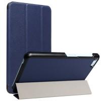 Сегментарный чехол книжка подставка на непрозрачной поликарбонатной основе для Huawei MediaPad T2 7.0 Pro  Синий