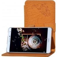 Чехол книжка подставка текстура Узоры на непрозрачной поликарбонатной основе для Huawei MediaPad T2 7.0 Pro Оранжевый