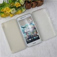 Силиконовый матовый полупрозрачный чехол для HTC Desire 830  Белый
