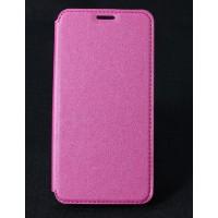 Чехол горизонтальная книжка на силиконовой основе с отсеком для карт текстура Золото для HTC Desire 830  Пурпурный