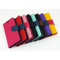 Чехол портмоне подставка на силиконовой основе с тканевым покрытием на магнитной защелке для HTC Desire 830