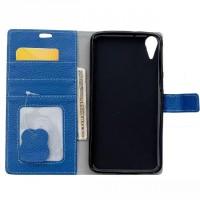 Кожаный чехол портмоне подставка на силиконовой основе на магнитной защелке для HTC Desire 828