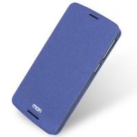 Чехол горизонтальная книжка подставка на силиконовой основе для HTC Desire 828  Синий