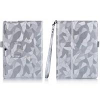 Чехол книжка подставка текстура Узоры с рамочной защитой экрана, крепежом для стилуса и поддержкой кисти для Lenovo Tab 2 A10-30 Белый