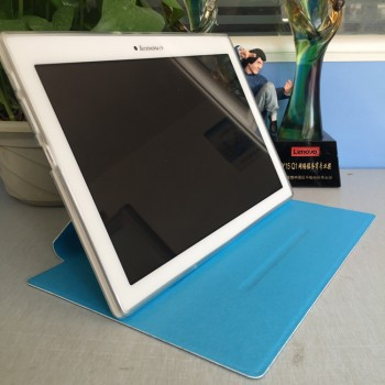Чехол книжка подставка на транспарентной силиконовой основе для Lenovo Tab 2 A10