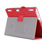 Чехол книжка подставка с рамочной защитой экрана, крепежом для стилуса, отсеком для карт и поддержкой кисти для Lenovo Tab 2 A10-30