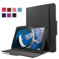 Чехол книжка подставка с рамочной защитой экрана, магнитной защелкой и отсеком для карт для Lenovo Tab 2 A10-30 Черный