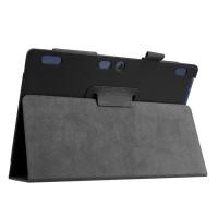 Чехол книжка подставка с рамочной защитой экрана и крепежом для стилуса для Lenovo Tab 2 A10-30