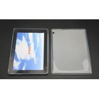 Силиконовый матовый полупрозрачный чехол для Lenovo IdeaTab A7600