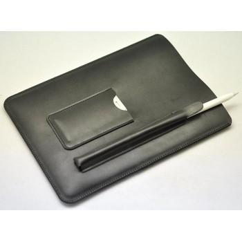 Кожаный мешок (иск. кожа) с отсеком для карт и стилуса для Ipad Pro
