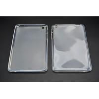 Силиконовый матовый полупрозрачный чехол для Lenovo IdeaTab A5500 Белый