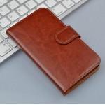 Винтажный чехол портмоне подставка на пластиковой основе на магнитной защелке для Alcatel OneTouch Pop Star 3G 5022d