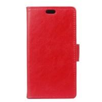 Винтажный чехол портмоне подставка на силиконовой основе на магнитной защелке для Lenovo Vibe S1 Lite  Красный