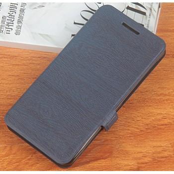 Чехол горизонтальная книжка текстура Дерево на силиконовой основе на магнитной защелке для Umi Super