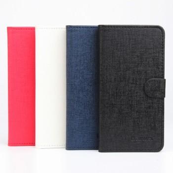 Текстурный чехол горизонтальная книжка подставка на клеевой основе с отсеком для карт на магнитной защелке для Doogee X5 Max