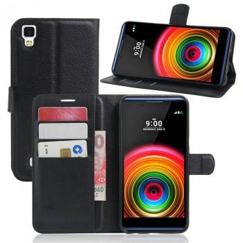 Чехол портмоне подставка на силиконовой основе на магнитной защелке для LG X Power