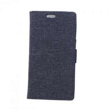 Чехол портмоне подставка на силиконовой основе с тканевым покрытием на магнитной защелке для Sony Xperia X Performance