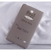 Силиконовый матовый полупрозрачный чехол для Samsung GALAXY Tab 4 7.0
