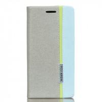 Чехол горизонтальная книжка подставка текстура Линии на силиконовой основе с отсеком для карт на магнитной защелке для Sony Xperia XA Ultra  Белый