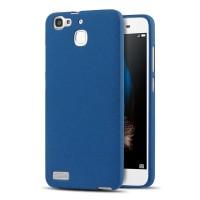 Силиконовый матовый непрозрачный чехол для Huawei GR3  Синий