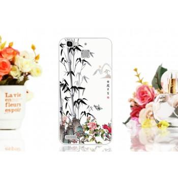 Силиконовый матовый непрозрачный чехол с принтом для Huawei GR3