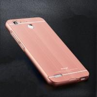 Двухкомпонентный чехол c металлическим бампером с поликарбонатной накладкой и текстурным покрытием Металл для Huawei GR3 Розовый