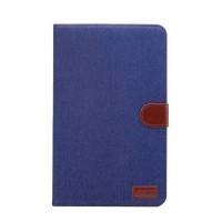 Чехол книжка подставка на непрозрачной поликарбонатной основе с магнитной защелкой и отсеком для карт для Samsung Galaxy Tab A 10.1 (2016)  Синий