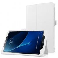 Чехол книжка подставка с рамочной защитой экрана и крепежом для стилуса для Samsung Galaxy Tab A 10.1 (2016) Белый
