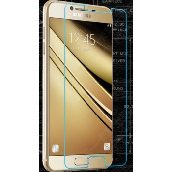 Ультратонкое износоустойчивое сколостойкое олеофобное защитное стекло-пленка для Samsung Galaxy C7