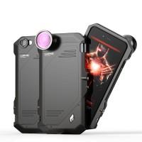 Противоударный двухкомпонентный силиконовый матовый непрозрачный чехол с поликарбонатными вставками экстрим защиты, разъемом для штатива и доплинзами для Iphone 6/6s